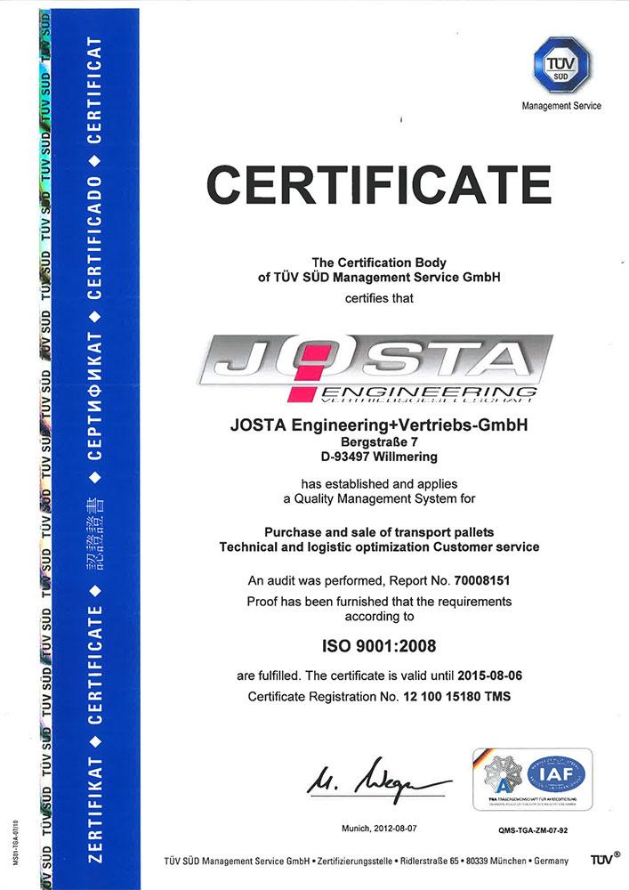 Certificates - Stauner palet s.r.o. - Manufacturer of special ...