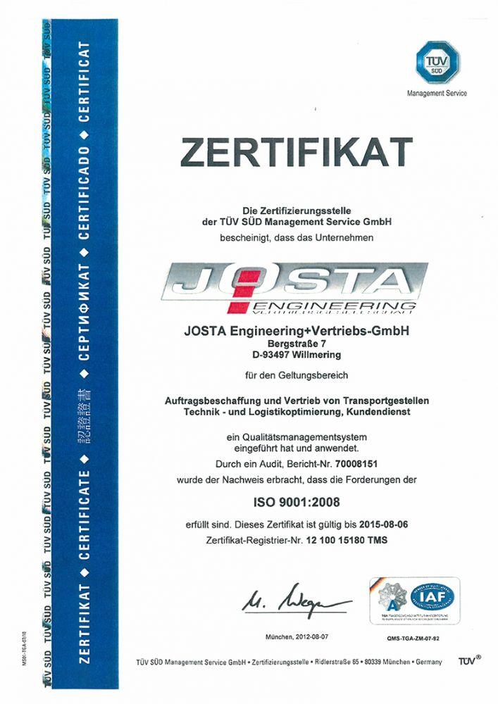 Zertifikate - Stauner palet s.r.o. - Hersteller von Spezialbehältern ...
